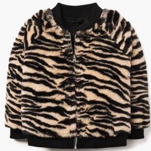 Gymboree Girl Mod Zebra Faux Fur Jacket NWT